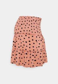 LOVE2WAIT - MINI SKIRT RUFFLES - Mini skirt - dusty rose - 0