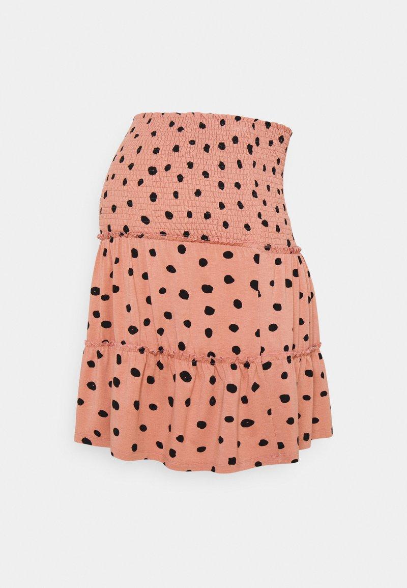 LOVE2WAIT - MINI SKIRT RUFFLES - Mini skirt - dusty rose