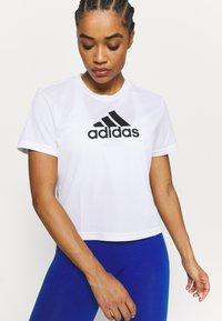 adidas Performance - Print T-shirt - white/black - 3