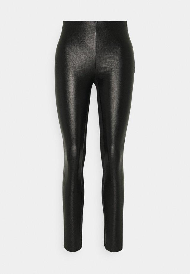 METALLIC STRETCH - Leggings - Trousers - black