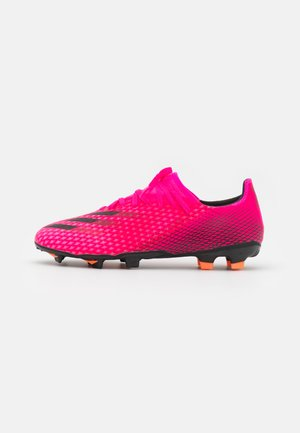 X GHOSTED.3 FG - Moulded stud football boots - shock pink/core black/screaming orange