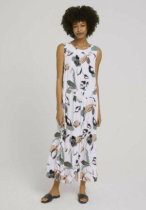 Maxi dress - offwhite blue floral design