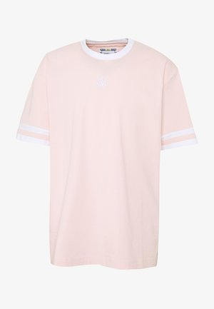 ESSENTIALS OVERSIZED RINGER TEE - T-shirt con stampa - cloudy pink