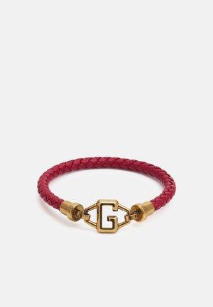 BRACKETS UNISEX - Náramek - red/antique gold-coloured