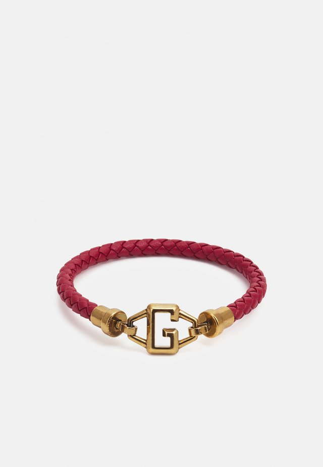 BRACKETS UNISEX - Náramek - red/antique gold-coloured