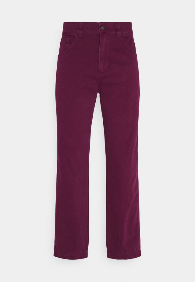 DRILL STRAIGHT LEG TROUSER - Tygbyxor - tawny port