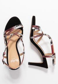 PERLATO - High heeled sandals - rosso/noir - 3