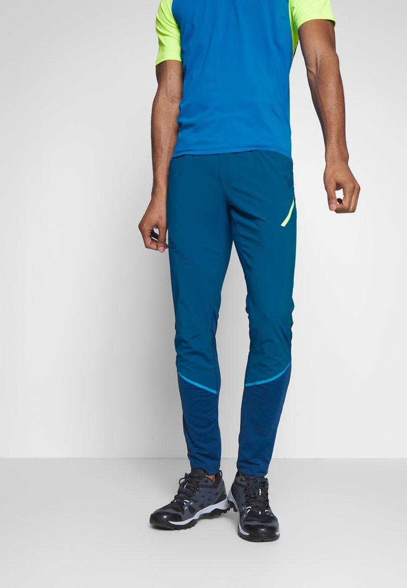 Dynafit - TRANSALPER HYBRID - Spodnie materiałowe - mykonos blue