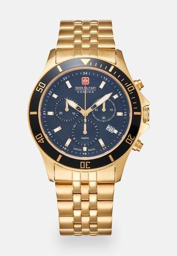 FLAGSHIP CHRONO II - Zegarek chronograficzny - gold-coloured/black