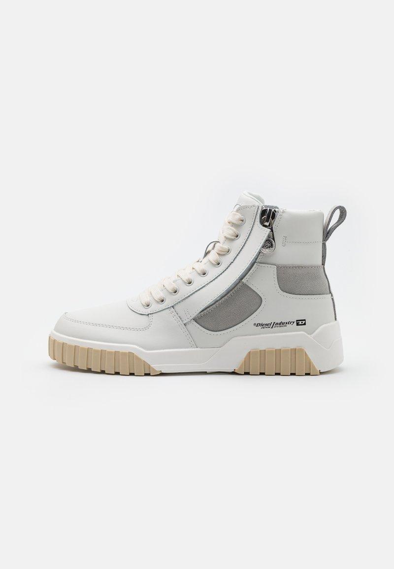 Diesel - S-RUA MID SK - Höga sneakers - white/grey