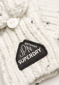 Superdry - GRACIE - Fingerless gloves - winter white tweed - 1