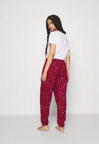 Hunkemöller - PANT CUFF - Pyjama bottoms - rumba red - 2