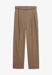 CLAUDI - Spodnie materiałowe - bruin