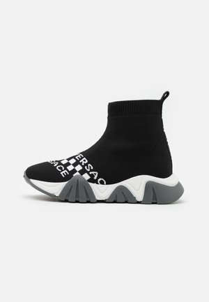 SQUALO ALTA CALZINO LOGATA - Sneakers high - black/white
