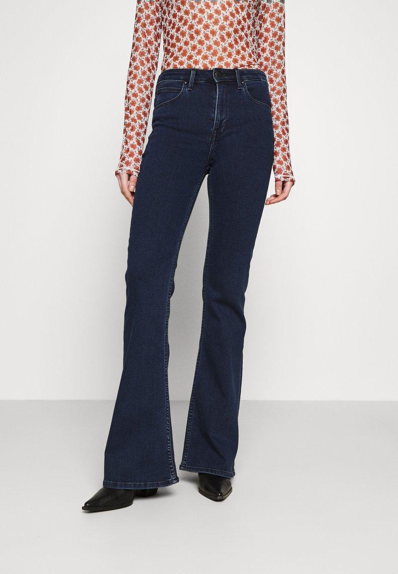 Lee - BREESE - Flared jeans - dark joni