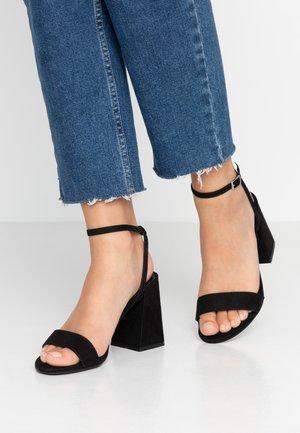 SPOINT - Sandaler med høye hæler - black