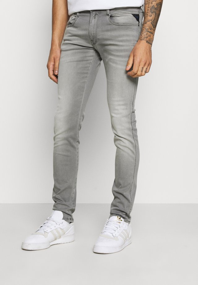 ANBASS HYPERFLEX REUSED - Jeans slim fit - super light grey
