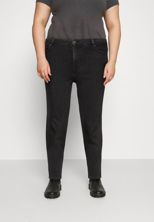 PCLILI SLIM - Džíny Slim Fit - black denim