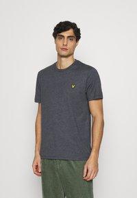 Lyle & Scott - MARLED - T-shirt - bas - dark navy - 0