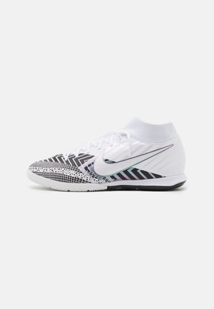 MERCURIAL 7 ACADEMY MDS IC - Indoor football boots - white/black