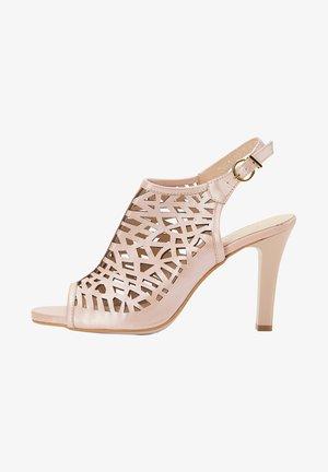 High heeled sandals - rose