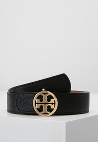Tory Burch - REVERSIBLE LOGO - Ceinture - black/saddle - 0