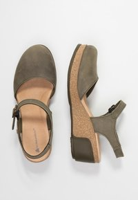 El Naturalista - LEAVES - Platform heels - kaki - 3