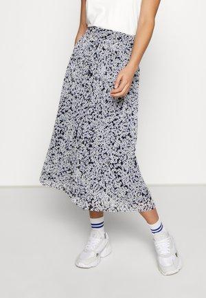 VIMOLTAN MIDI SKIRT - A-line skirt - navy blazer/white