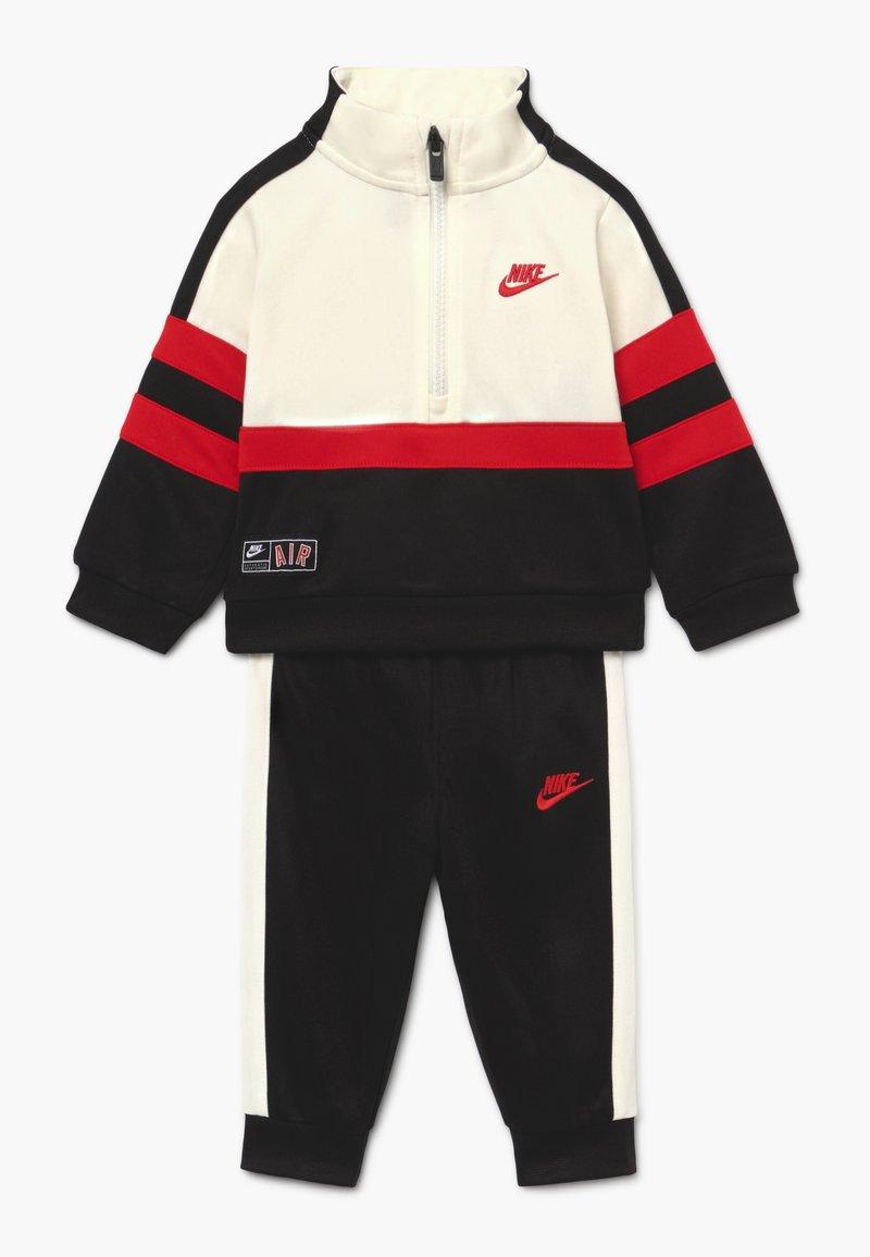 Nike Sportswear - AIR SET - Tracksuit - black/university red