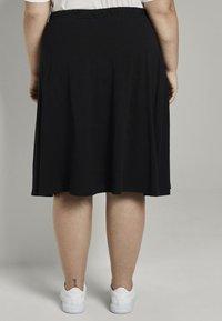 MY TRUE ME TOM TAILOR - A-line skirt - deep black - 2