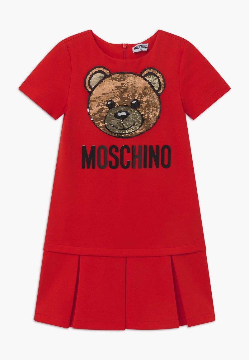 MOSCHINO - Žerzejové šaty - poppy red