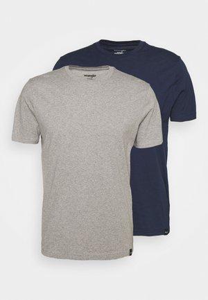 TEE 2 PACK - T-shirt basic - mid grey melange