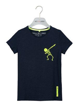 BT FASTER  - Print T-shirt - navy
