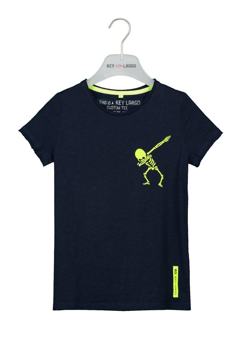 Key Largo - BT FASTER  - Print T-shirt - navy