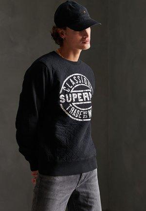 SUPERDRY WORKWEAR QUILTED CREW SWEATSHIRT - Sweatshirt - black