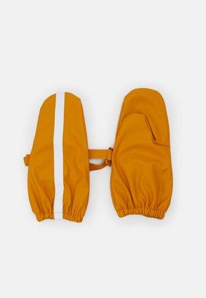 GLOVES - Mittens - dark dusty yellow