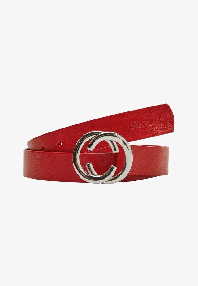 MIT RING-SCHLIESSE - Belt business - red