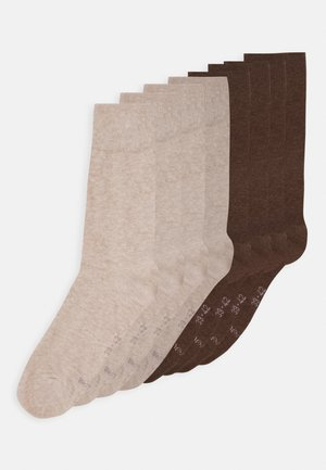 ONLINE ESSENTIAL SOCKS  UNISEX 8 PACK - Ponožky - nature melange