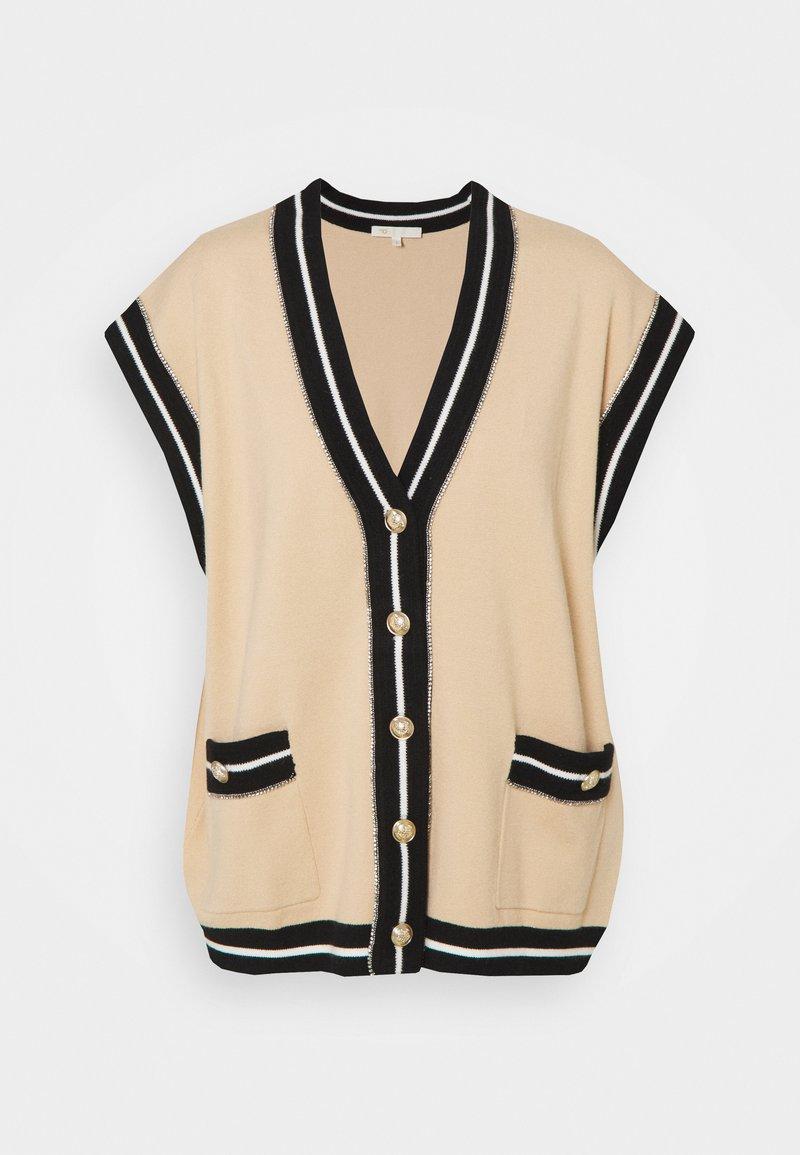 maje - MARSHALLI - Zip-up sweatshirt - beige