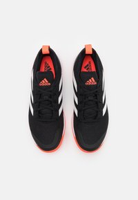adidas Performance - COURT CONTROL - Tenisové boty na všechny povrchy - core black/footwear white/solar red - 3