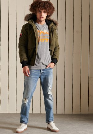 T-shirt con stampa - grey grit