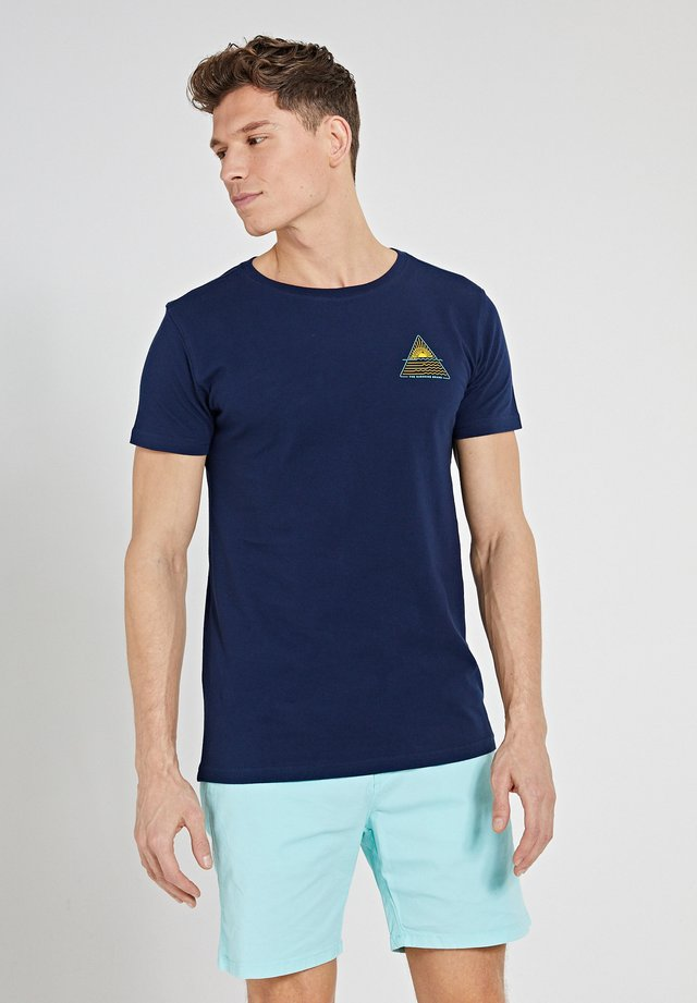 SUNSHINE TRIANGLE - T-shirt imprimé - dark navy