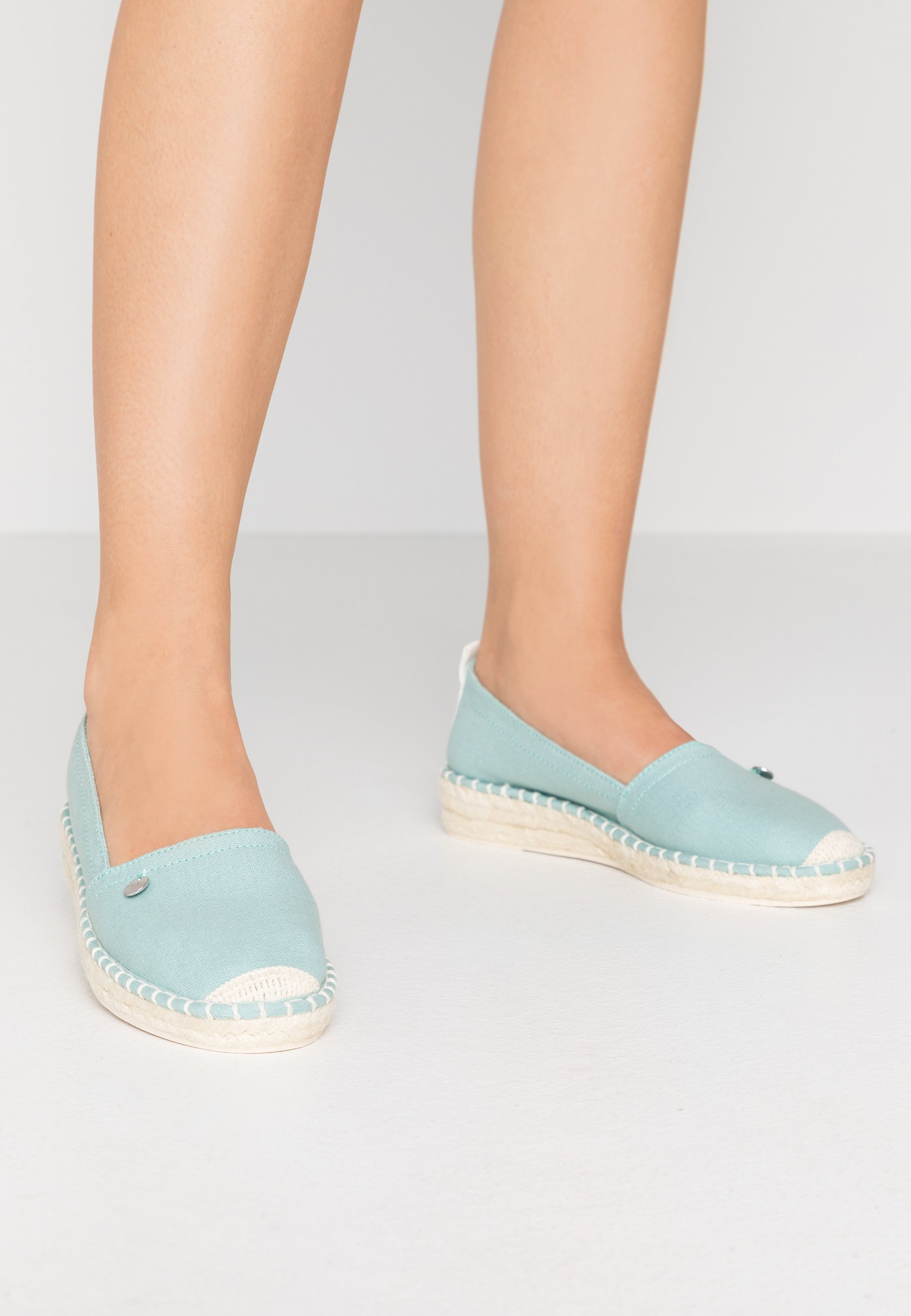 INES BASIC Espadrillos light aqua green