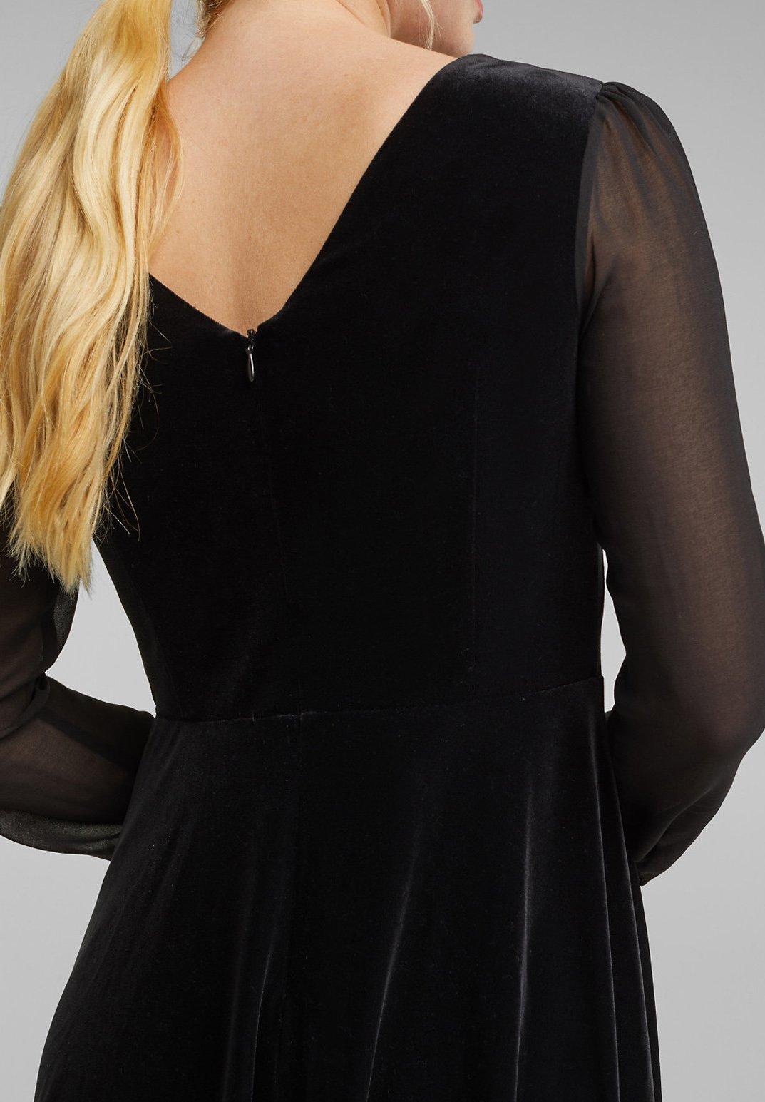 Esprit Collection MIT CHIFFONÄRMELN Freizeitkleid black/schwarz