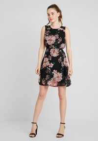 Vero Moda - VMSUNILLA SHORT DRESS - Day dress - black/sunilla - 1