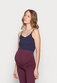 Anna Field MAMA - 2ER PACK CROP NURSING CAMI  - Toppe - black/dark blue - 1