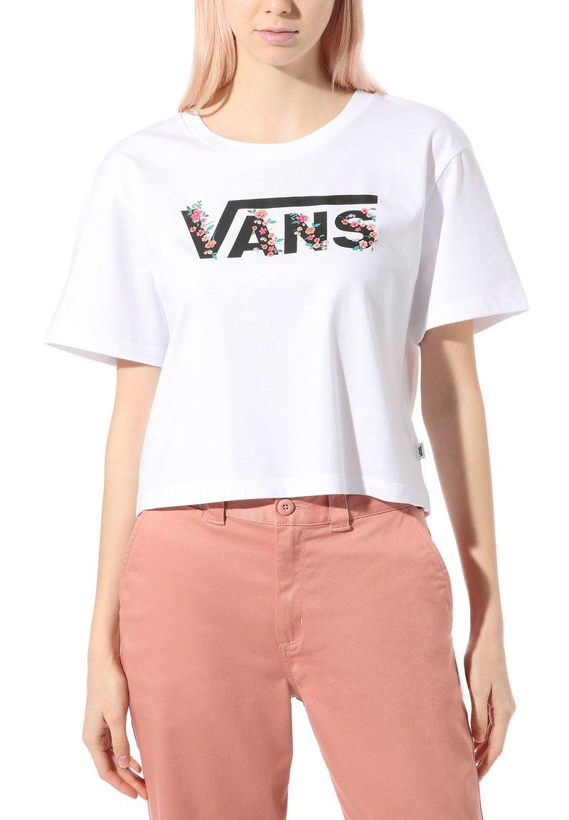 Vans - WM BUNDLEZ BELL TEE - Print T-shirt - white