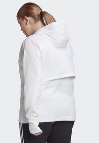 adidas Performance - AEROREADY KNIT JACKET (PLUS SIZE) - Chaqueta de entrenamiento - white - 1
