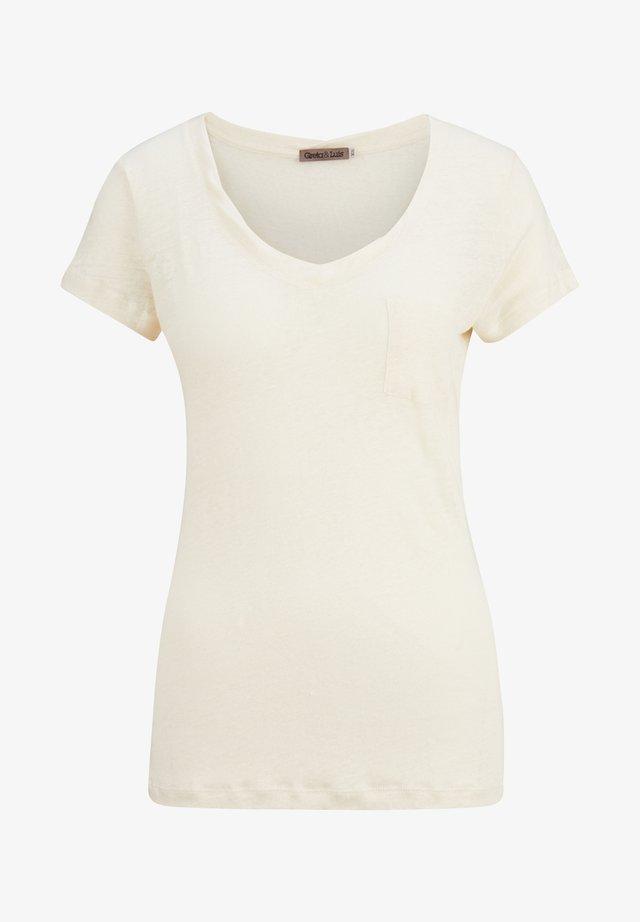 PREMIUM MILLA - Basic T-shirt - 3 offwhite