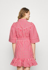 byTiMo - CHECKS KITCHEN DRESS - Shirt dress - red - 2